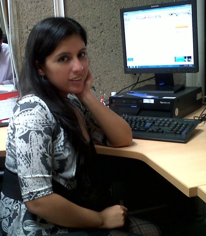 Yo en la oficina (: