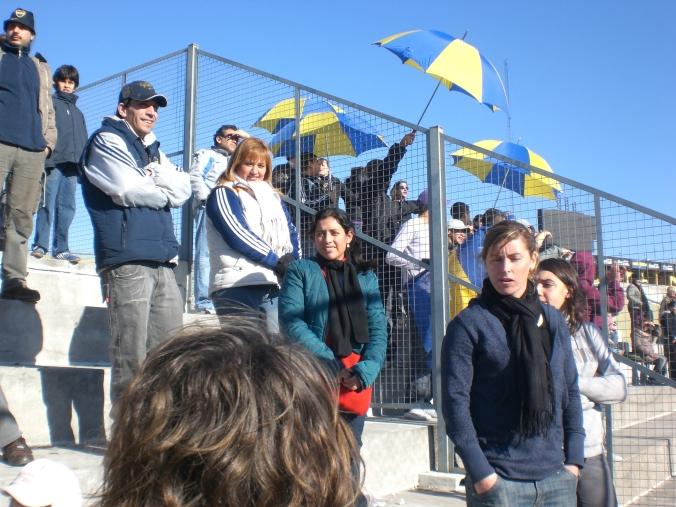 En estadio de Boca.